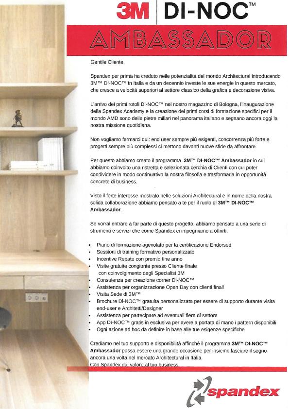 3M DI-NOC Ambassador Bside Printing certificati Spandex