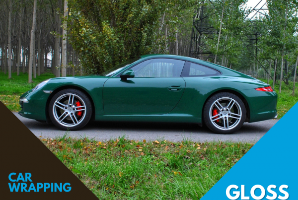 Porsche Carrera Wrapping Gloss Dark Green verde scuro