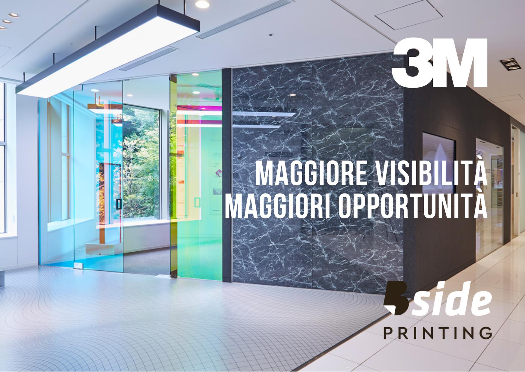 Bside Printing maggiore visibilità maggiori opportunità soluzioni gestione luce Commercial graphics rivestimenti vetrate vetrine vetri finestre arredi interni interior design