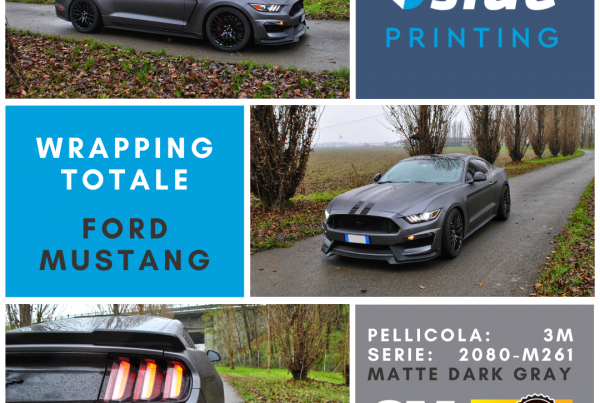 Bside Printing Car wrapping totale Ford Mustang Pellicola 3M serie 2080 M261 Matte Dark Gray