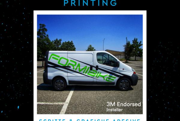 personalizzazione furgone Formi bike scritte grafiche adesive per personalizzazione veicoli commerciali