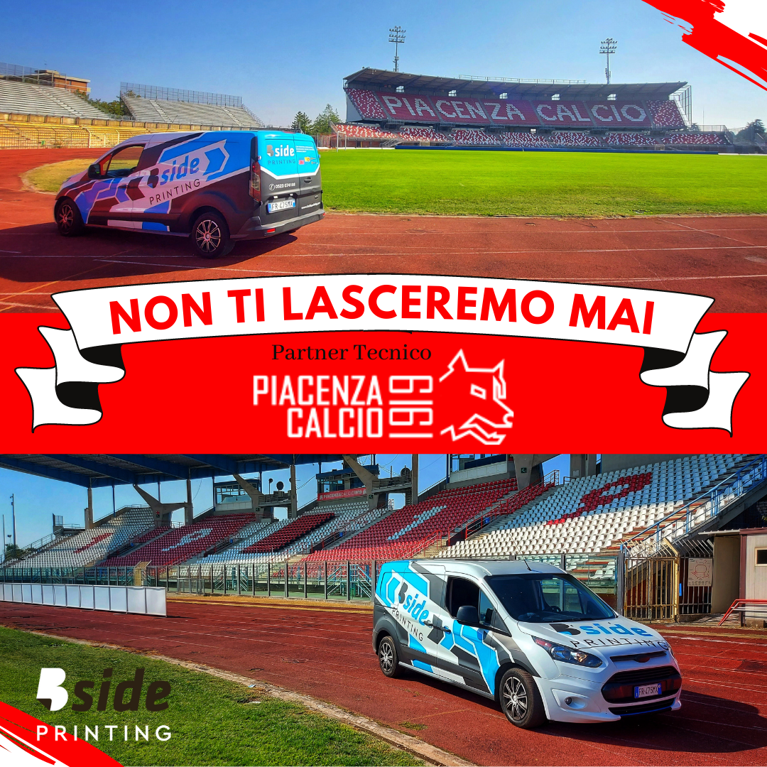 B Side Printing sponsor tecnico technical partner Piacenza Calcio 1919 Serie C 2021 2022